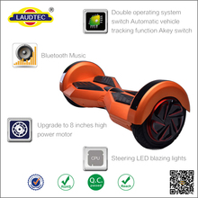 8 inch two wheels self balancing electric scooter hands free self balancing scooter with Bluetooth Music & LED --------- Laudtec