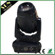 Double prism 280w moving head light motorized zoom and focus