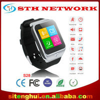 Wholesales OEM/ODM Smart Bluetooth Watch S6 Wristwatch Cell Phone MTK6577 Dual Core 2MP 3G WCDMA GPS WIFI Single SIM Card