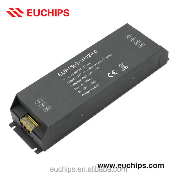 150W Triac Dimmable LED Driver [EUP150T-1H12V-0] 40-240VAC in, 12V, 150W