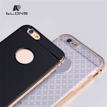 2015 hot sale!!Metal Bumper Case + Double Color Bumper cover back for sumsung S6 thin Slim aluminum case for iphone 6