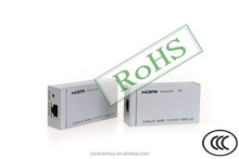 2015 purchase HD audio support 1080P Vision black 50m HDMI extender over double Ethernet cat 5e/6
