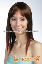 synthetic hair product , Lady's long red hair style wigs