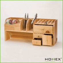 Incredible wood desk organizer _ HOMEX