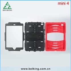 PC Holder Cases Plastic For iPad Mini4 Tablet, For iPad Mini 4 Vintage Armor Hybrid Case