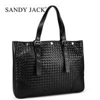 50% discount off men leather laptop bags in handmade craft handle bags dark blue nice designer business bag men Drop shipping