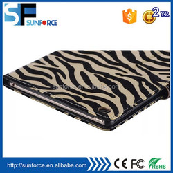 Newest uitra thin tablet protective zebra grain case for ipad 6 and ipad air 2