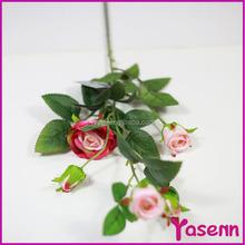 """29"""" seda plástico de flores de camelia rosa de la decoración de Rose que hace arreglo floral plantas artificiales"""
