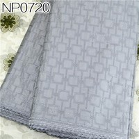 High quality and low price cotton satin drill lace fabric of African NP0720