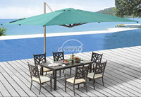 Rectangle patio roratable outdoor umbrella with marble base
