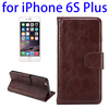 Wholesale Price Wallet Style Leather Case Cover for iPhone 6s Plus with Photo Slot