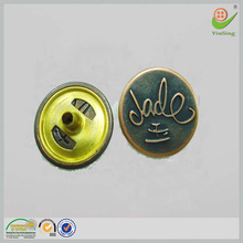 Chinese top 10 brands antique brass metal snap button shirts
