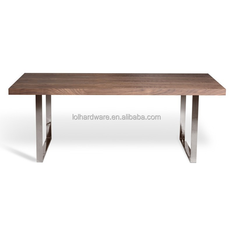 Dining Table Stainless Steel Base Dining Table Outdoor Dining Table
