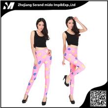 Mujeres Colorful Galaxy Print Elástico Leggings Entrenamiento