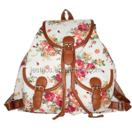 2015 Backpack retro classic rose ladies casual backpack canvas backpacks for school
