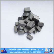 Zhuzhou Cemented Carbide Cutting Tools Type D Brazed Inserts / Tips