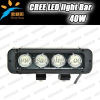 Factory Manufacture 1 Year Warranty 12V 24V Single Row 40W C ree Led Light Bar For Tow Truck Heavy-Duty Forklift Tractor