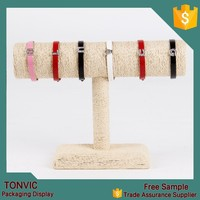 New arrival ! Linen T bar bracelet jewelry display rack factory in china hot sale