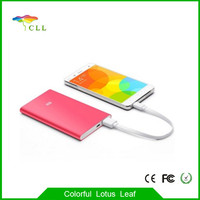 super slim 9.9mm aluminum case 5000 mah xiaomi power bank