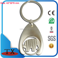 souvenir hollow/cavern out logo matt pearl pull and rebound trolley tokens key chain ring
