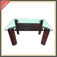 modern stylish stainless steel with marble dining table DT027