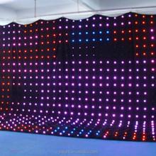 high quality led flexible curtain/ soft led videos cloth