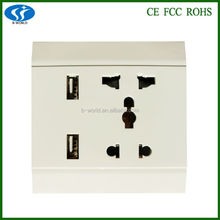 outlet stock 10A double usb for universal wall socket usb charger wall socket
