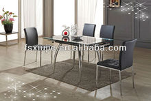 Black Tempered Small Glass Dining Table Manufacturer VL808C