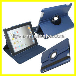 Pure Colour Leather Case for iPad 360 Degree Rotate Leather for iPad Case Leather Genuine for Tablet PC Magnetic Smart Cover