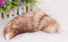 fox tail in animal fur/fox tail charms key chain/sliver fox tails