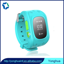 Remote voice monitoring smart wrist watch gps tracker for kids/old people with sos call