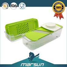 High Quality Fashion Kitchen Product Food Wholesale Plastic and Stainless Steel Manual Food Chopper