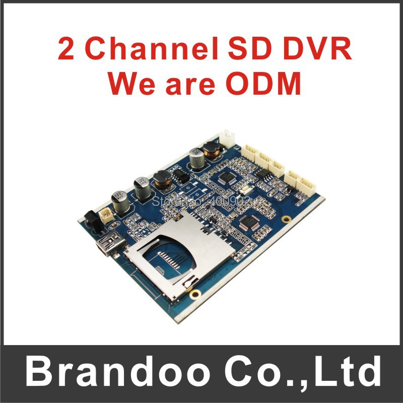 2 channel real time recording SD DVR, 60f/s, 128GB SD, VGA 640X480, MPEG-4,5V-30V power, sold by Brandoo