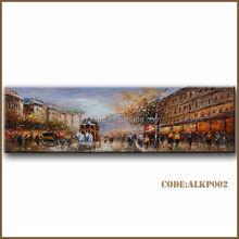 Handmade impressionist paris street oil paintings