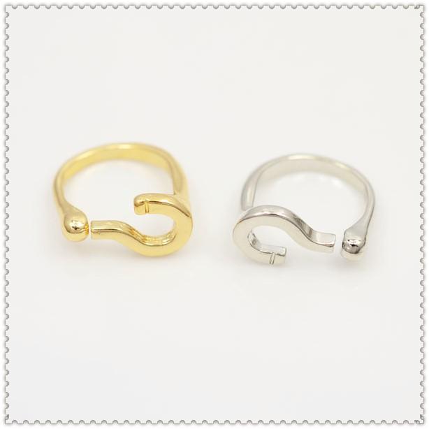 Мода ювелирные изделия женского вопросительный знак палец кольцо смешивать цвета r503