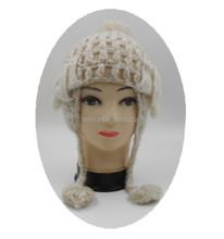 2015 Lovely princess knitted hat for children with bowknot