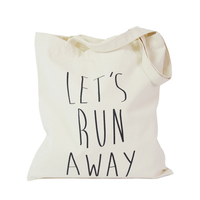 OEM cotton canvas tote bag with custom printed logo for shopping wholesale