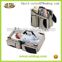 2015 best selling travel portable foldable lazy bed baby Diaper Bags from China ISO supplier