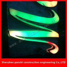Outdoor advertising acrylic frontlit full color shop neon signs