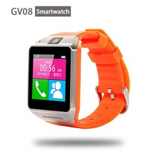 Wrist Wrap Handsfree sim card camera bluetooth android smart watch gv08 smart watch Sync SMS Skype