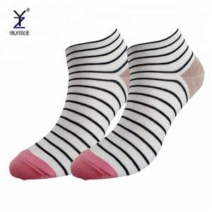 Custom classic striped weiß baumwolle snap auf trainer sport socken weiß