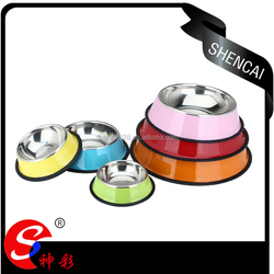High Quality Anti-slip Colorful Stainless Steel Pet Bowl / Pet Feeder/ Dog bowl