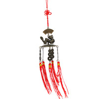 Excellent Beautifully Chinese Tibet Carved Dragon Buddha Bell Decoration Wind Chimes Outdoor Garden Fit For Gift