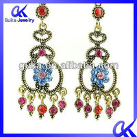 Factory Promotional 2013 Fashion New Design Long Design Diamond Earrings