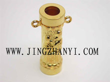 Hot selling aroma bottle pendant gold perfume necklace pendant