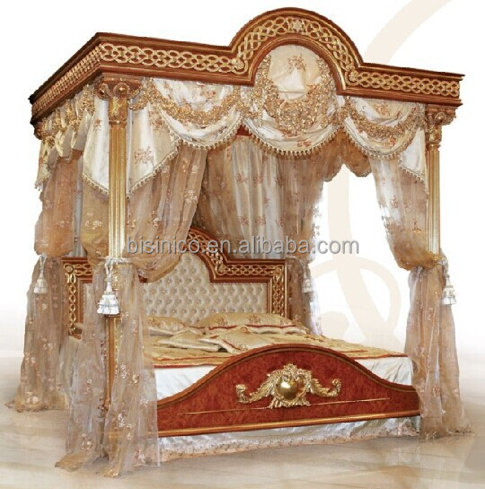 Italiano muebles de dormitorio de madera real, Tapizados de lujo ...