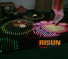 Led dance floor, interactive dancing floor for club bar and wedding