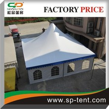 big outdoor aluminum cheap 10x10 canopy shelter tents with linings and curtains for wedding event and meeting