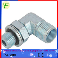 CARBON STEEL 90 ELBOW NPT MALE/NPSM FEMALE 60 CONE HYDRAULIC HOSE FITTING Adaptor