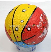 Hot-selling official size rubber basketball with custom logo